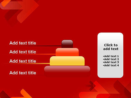 Arrows on Red Background PowerPoint Template Slide 8