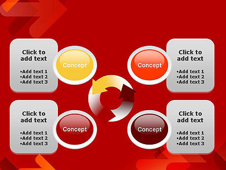 Arrows on Red Background PowerPoint Template Slide 9