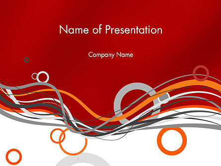 Abstract Waves and Circles PowerPoint Template
