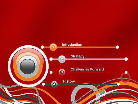 Abstract Waves and Circles PowerPoint Template Slide 3