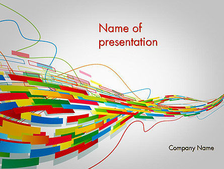 Abstract/Textures: Abstract Streaming Colorful Rectangles PowerPoint Template #12130