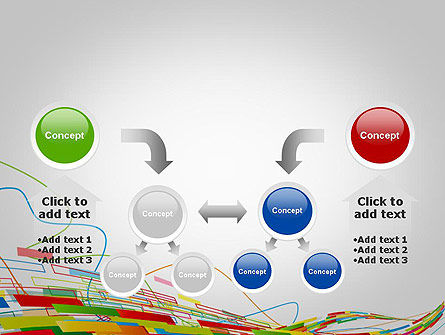 Abstract Streaming Colorful Rectangles PowerPoint Template Slide 19