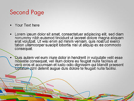 Abstract Streaming Colorful Rectangles PowerPoint Template Slide 2