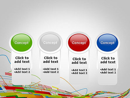 Abstract Streaming Colorful Rectangles PowerPoint Template Slide 5