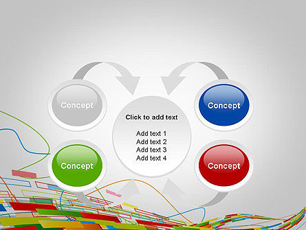 Abstract Streaming Colorful Rectangles PowerPoint Template Slide 6