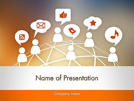 Social Media Icons PowerPoint Template, 12131, Technology and Science — PoweredTemplate.com
