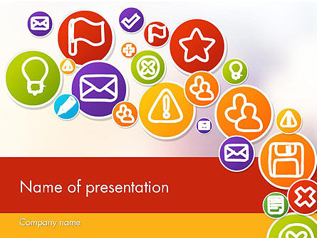Colorful Icons PowerPoint Template, 12132, Careers/Industry — PoweredTemplate.com