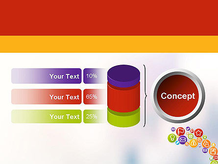 Colorful Icons PowerPoint Template Slide 11