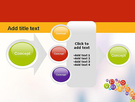 Colorful Icons PowerPoint Template Slide 17