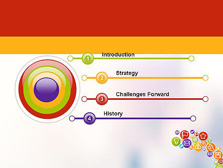 Colorful Icons PowerPoint Template, Slide 3, 12132, Careers/Industry — PoweredTemplate.com