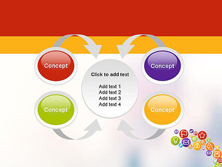 Colorful Icons PowerPoint Template Slide 6