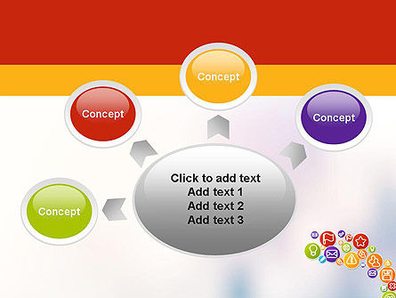 Colorful Icons PowerPoint Template Slide 7
