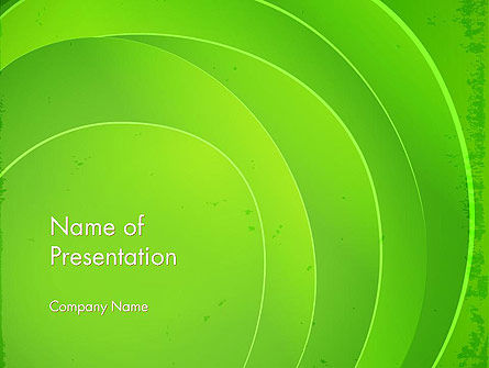 Curved Lines on Green PowerPoint Template