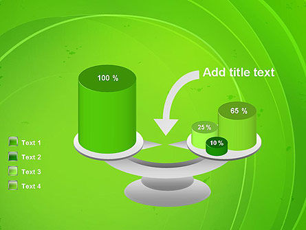 Curved Lines on Green PowerPoint Template Slide 10