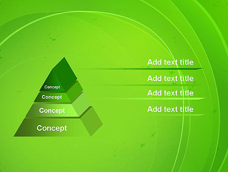 Curved Lines on Green PowerPoint Template Slide 12