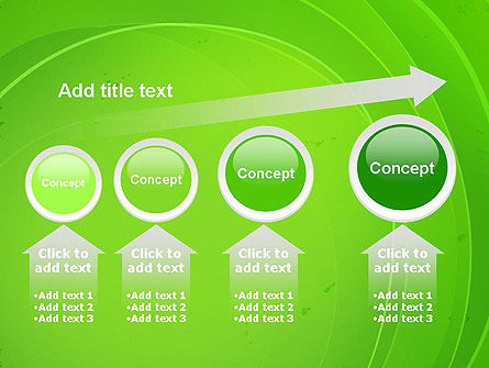 Curved Lines on Green PowerPoint Template Slide 13