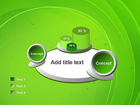 Curved Lines on Green PowerPoint Template Slide 16