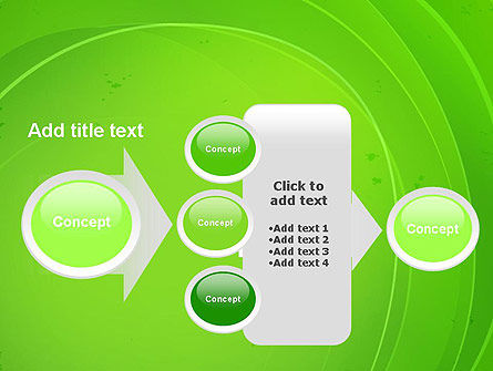 Curved Lines on Green PowerPoint Template Slide 17