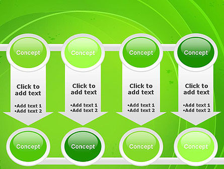 Curved Lines on Green PowerPoint Template Slide 18