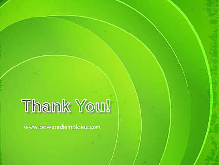 Curved Lines on Green PowerPoint Template Slide 20