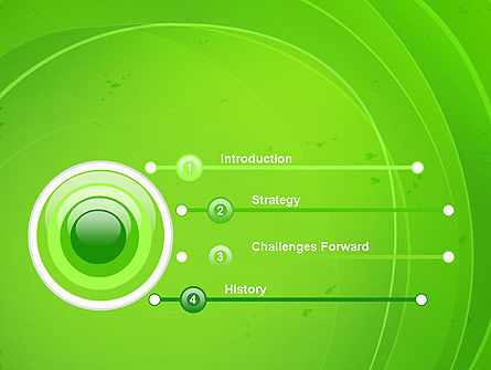Curved Lines on Green PowerPoint Template Slide 3