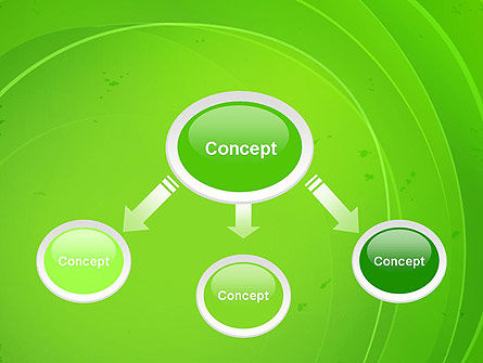 Curved Lines on Green PowerPoint Template Slide 4