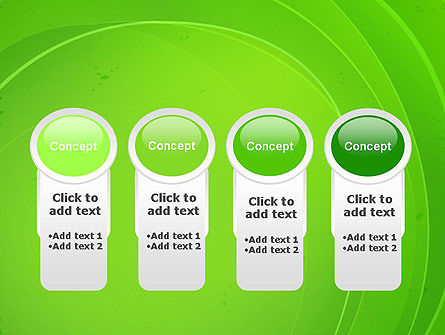 Curved Lines on Green PowerPoint Template Slide 5