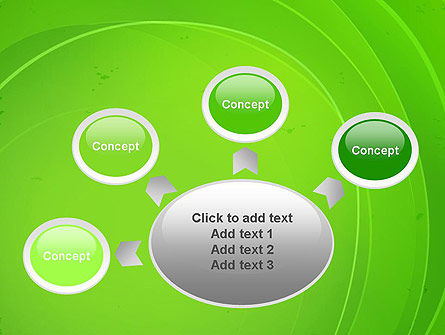 Curved Lines on Green PowerPoint Template Slide 7