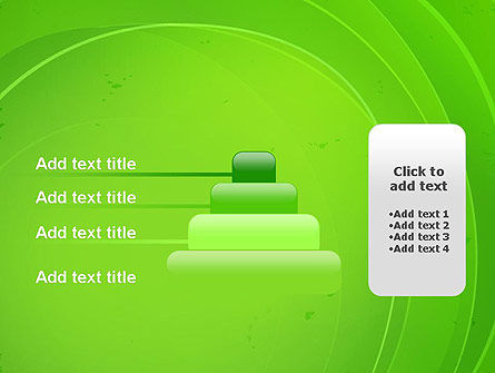 Curved Lines on Green PowerPoint Template Slide 8