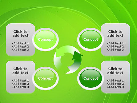 Curved Lines on Green PowerPoint Template Slide 9