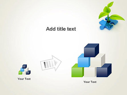 Sprout on Blue Jigsaw Puzzle PowerPoint Template Slide 13