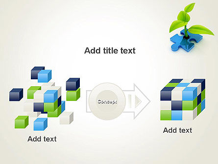 Sprout on Blue Jigsaw Puzzle PowerPoint Template Slide 17