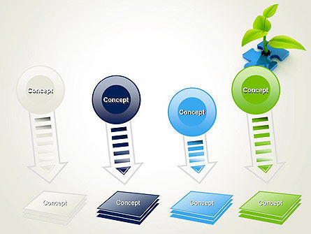 Sprout on Blue Jigsaw Puzzle PowerPoint Template Slide 8
