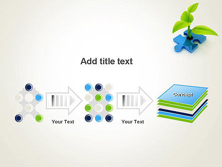 Sprout on Blue Jigsaw Puzzle PowerPoint Template Slide 9