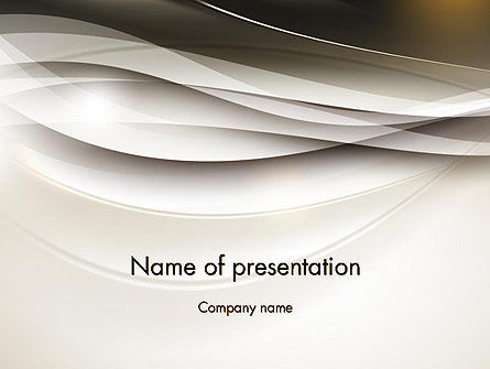 Beige Blurry Waves and Curved Lines PowerPoint Template