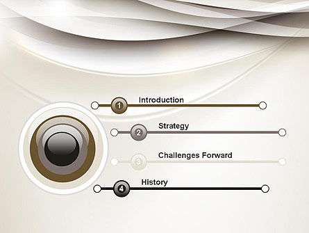 Beige Blurry Waves and Curved Lines PowerPoint Template Slide 3