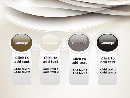 Beige Blurry Waves and Curved Lines PowerPoint Template Slide 5