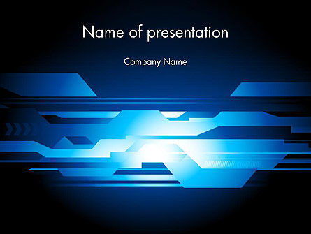 Abstract Blue Layers PowerPoint Template