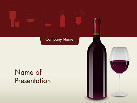Wine Themed PowerPoint Template, 12139, Food & Beverage — PoweredTemplate.com