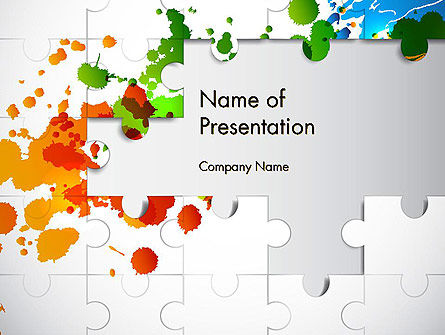 Puzzle Background PowerPoint Template, 12140, Abstract/Textures — PoweredTemplate.com