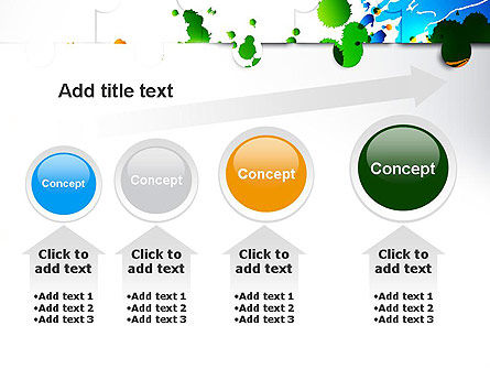 Puzzle Background PowerPoint Template Slide 13