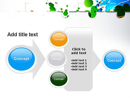 Puzzle Background PowerPoint Template Slide 17