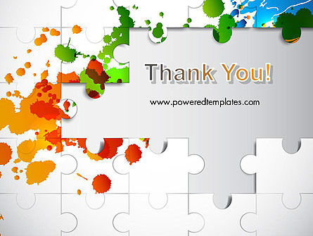 Puzzle Background PowerPoint Template Slide 20