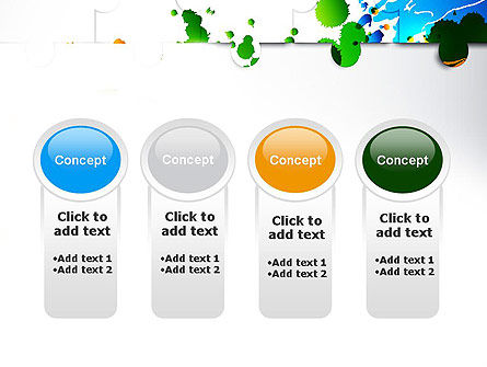 Puzzle Background PowerPoint Template Slide 5