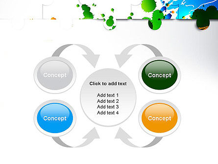 Puzzle Background PowerPoint Template Slide 6