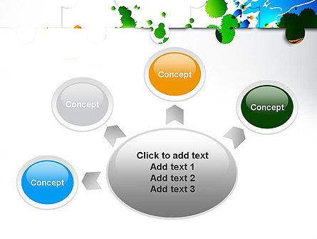 Puzzle Background PowerPoint Template Slide 7