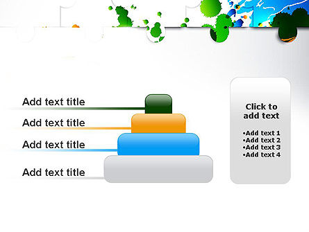 Puzzle Background PowerPoint Template Slide 8