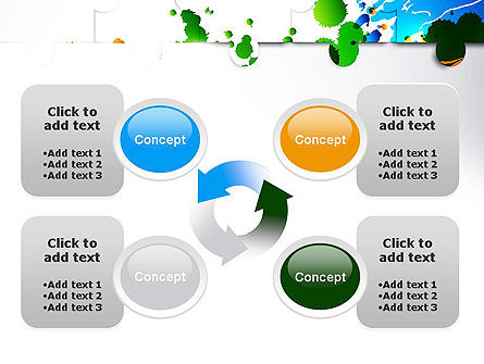 Puzzle Background PowerPoint Template Slide 9