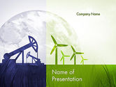 Nature & Environment: Renewable vs Nonrenewable Energy PowerPoint Template #12142