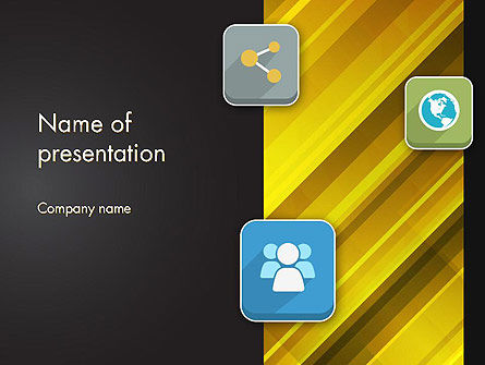Business Concepts: Communication and Social Networking PowerPoint Template #12143